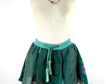japanese skirt, ethnic skirt, boho skirt, upcycled skirt, summer skirt, tutu skirt, ooak