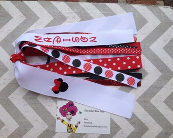 Personalized Minnie Mouse Ponytail Streamer