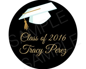 Graduation Gift Tags class of 2016 grad party sticker gift tags- Printable File