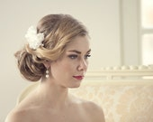 Silk Bridal Headpiece Bridal Hair Flower Comb Wedding Hairpiece Wedding Flower Hair Comb Bridal Hair Accessory Wedding Hair Accessories