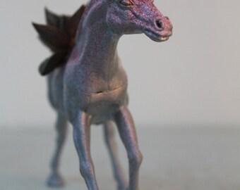 Pink Sparkly Unicorn Planter with Succulent, Echeveria, Unicorn, Home Decor, Office Planter, Desk Accessory