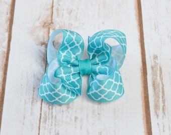 Hair Bows, Toddler Hair Bows, 3 Inch Hair Bow, Turquoise Hair Bow, Hair Bows for Girls, Baby Hair Hair Bows, Small Hair Bows, Baby Bows, 300