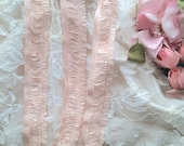 70 inches Antique Vintage Flapper Fringe Trim Perfectly Peachy Pink NOS in GORGEOUS unused condition For Dolls, Lingerie, Costumes, Crafts