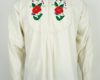 Vintage 1960's Embroidered Ethnic Shirt size Medium/Large