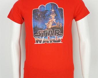 Vintage Original Star Wars Iron On Heat Transfer T-Shirt size Small 1977