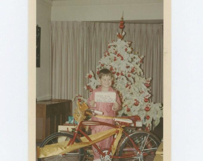 "Vintage Snapshot Kodacolor Photo:"" Dear Don, Thank you for the food, Merry Christmas, Santa"" 1967 (68493)"