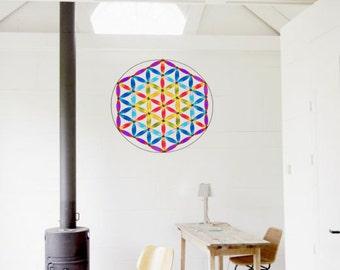 Flower of life mandala suncatcher sacred geometry yoga decoration 30cm diameter
