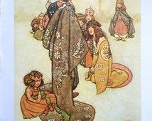 1913 W HEATH ROBINSON PRINCESS and a Prince Print Ideal for Framing