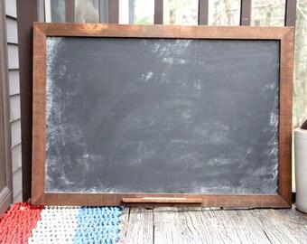X-Large Rustic Chalkboard- Kitchen Chalkboard- Hanging Chalkboard - Framed Blackboard Sign- Chalk Pencil & Hardware Included