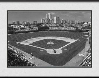 Black and White Wrigley Field Picture