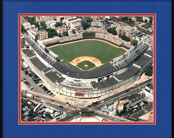 Chicago Cubs Memorabilia - Aerial of Wrigley Field