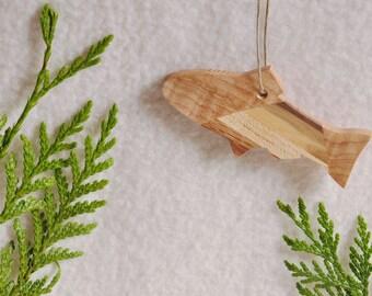 Unique Fish-Salmon Ornament - wood Christmas ornament - stocking stuffer for fisherman - jumping - fisherman gift - Alaska - Pacific NW SF98