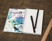 """Spiral Notebook Tartuensis College """"Untitled"""", Upcycled Handmade Journal"""