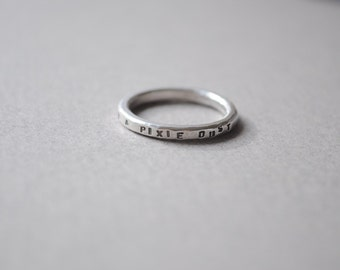 Silver Faith, Trust & Pixie Dust Ring