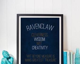 Harry Potter Hogwarts Ravenclaw Pride House Motto Print