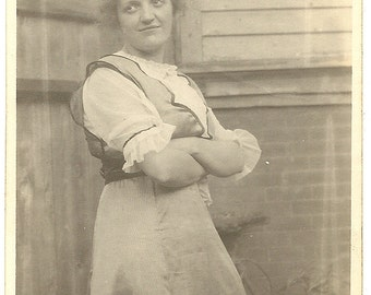 1915ish Sassy Lady with Crossed Arms