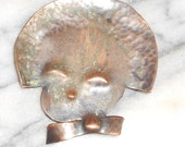 Hand Wrought A Kenneth Kreation Copper Brooch