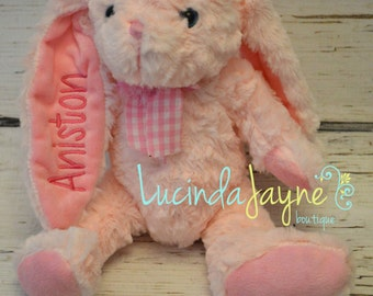 Personalized Bunnies with Embroidered Floppy Ear