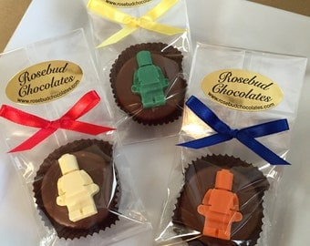 12 Chocolate Lego Guy Oreo Cookie Birthday Party Candy Favors Legos