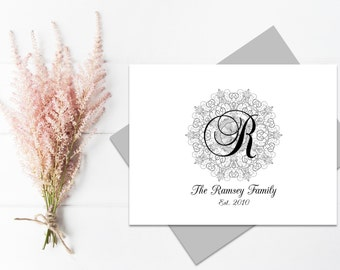 Personalized Stationery   Monogram Stationery   Monogram Thank You Cards   Personalized Stationary   Monogram Note Cards