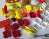 barbie doll toy picnic bbq food cookout pies coffeepot pepsi lobster 65 Pieces