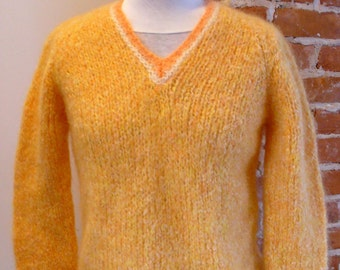 Made in Italy Vintage 1960's Mohair V Neck Sweater