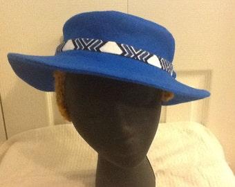 Dark Turquoise Felt Hat