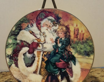 "Avon ""The Wonder of Christmas"" 1994 Collectible Plate 22K"