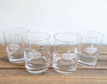 Amoco Rocks Glassware Set of Four - Featuring Marietta