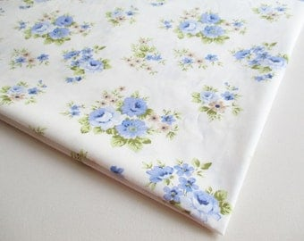Sweet Blue Rose, blue rose bouquet, Spring, blue flower bunch, Lady dress, ipad case, Fabric Bag, Curtain, Apron, Pillow cover, CT492