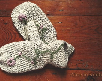 Crochet Knitting Fusion - Mittens. Pattern only