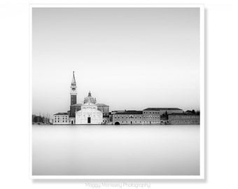 Black and White Venice Wall Decor, Travel Photography Wall Art Decor, Venice Architecture Art Print, Gift for Dad
