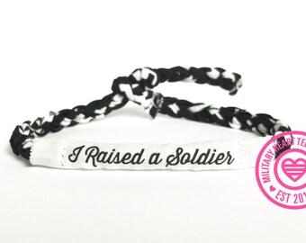 Military mom bracelet, I raised a soldier my hero, army mom bracelet, air force mom bracelet, marine mom bracelet, navy mom bracelet