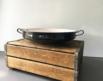 vintage black Dansk paella pan large round