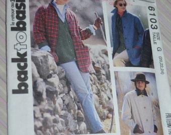 McCalls 6103  Misses Unlined Jacket Sewing Pattern - UNCUT - Sizes 20 22 24