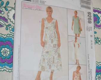 McCalls 9268 Misses Dress in two lengths Sewing Pattern - UNCUT - Sizes 8 10 12