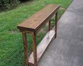 Rustic Console Table Extra Narrow Sofa Table Entryway Hallway Foyer Table with Shelf