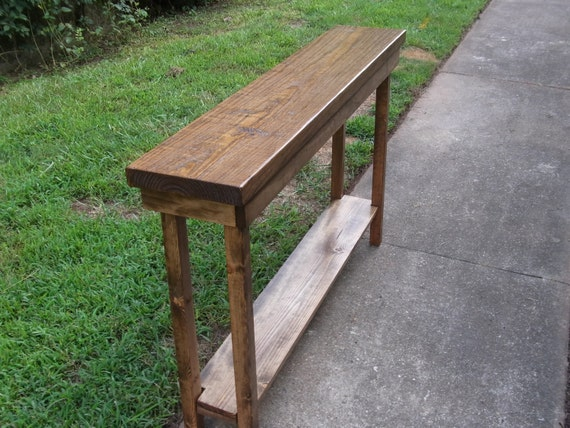 Narrow Foyer Table : Rustic console table extra narrow sofa entryway hallway