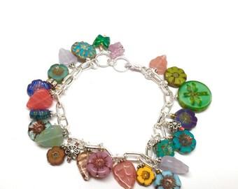 "Dangle ""Fleur Jardin"" Bracelet"
