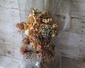 Dried Flower Arrangement,Natural Air Dried Bouquet, Natural Preserved Flowers