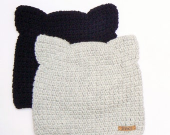 Cat Hat, Choose your Color, Cat Beanie, Cat Ear Hat, Animal Hat, Pink Cat Hat, Crochet Cat Hat, Kitty Hat, Cat Ears, Women Hat, Cute Hat