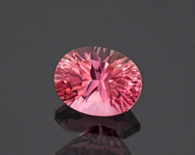 Concave Cut Rosy Pink Tourmaline Gemstone from Afghanistan 2.07 cts.
