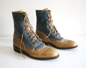 Justin Lace Up Boots 9/10