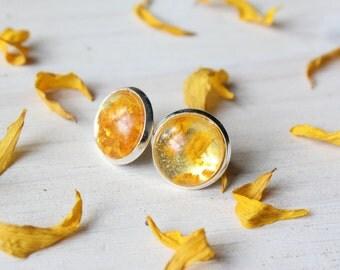 Summer Sunflower Stud Earrings