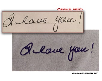 Custom digitize your loved ones handwriting signature quote handwritten personalized gift