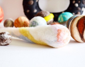 Comet, Space, Nasa, Solar System, Needle Felted, Wool, Montessori learning, For a large sized Solar System or order for a small sized set