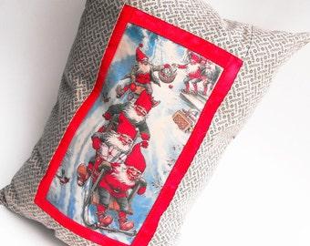 Santa's Helper Elves Bolster Pillow Santa Claus Workshop Toymaker North Pole Express Mail - Elf Gnome Dwarfs Decor Winter Holiday Decoration