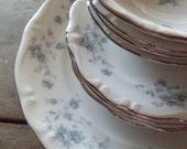 Vintage Dinnerware Set Dishes Plates Bowls Blue Garland China Bavarian Backstamp Johann Haviland Home & Living Kitchen Dining Serving
