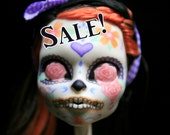 Repainted Doll OOAK Custom Monster High Repaint Skeleton Calavera Mexican Skull  I Am Unique Doll