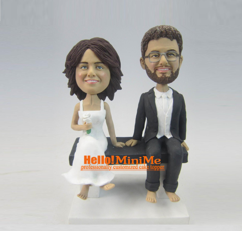 cake topper bobblehead personalized bobble head wedding cake. Black Bedroom Furniture Sets. Home Design Ideas